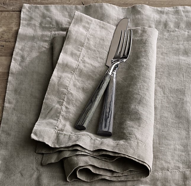 Washed Belgian Linen Napkins
