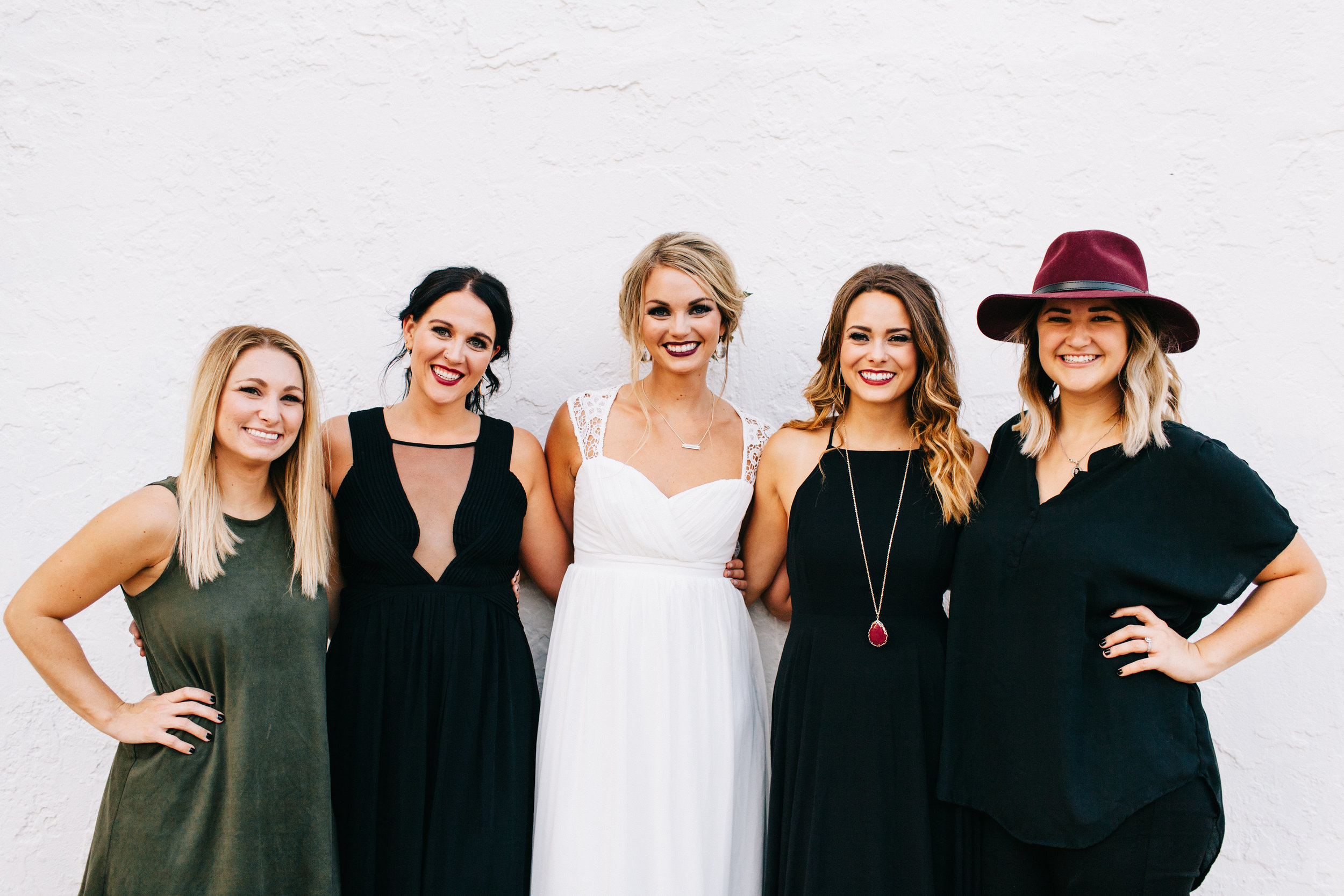 Jessica Ann (owner/stylist), Maegan Witham, Hayley Iago, Shelby Reust, Jenna Elyse (owner/stylist)