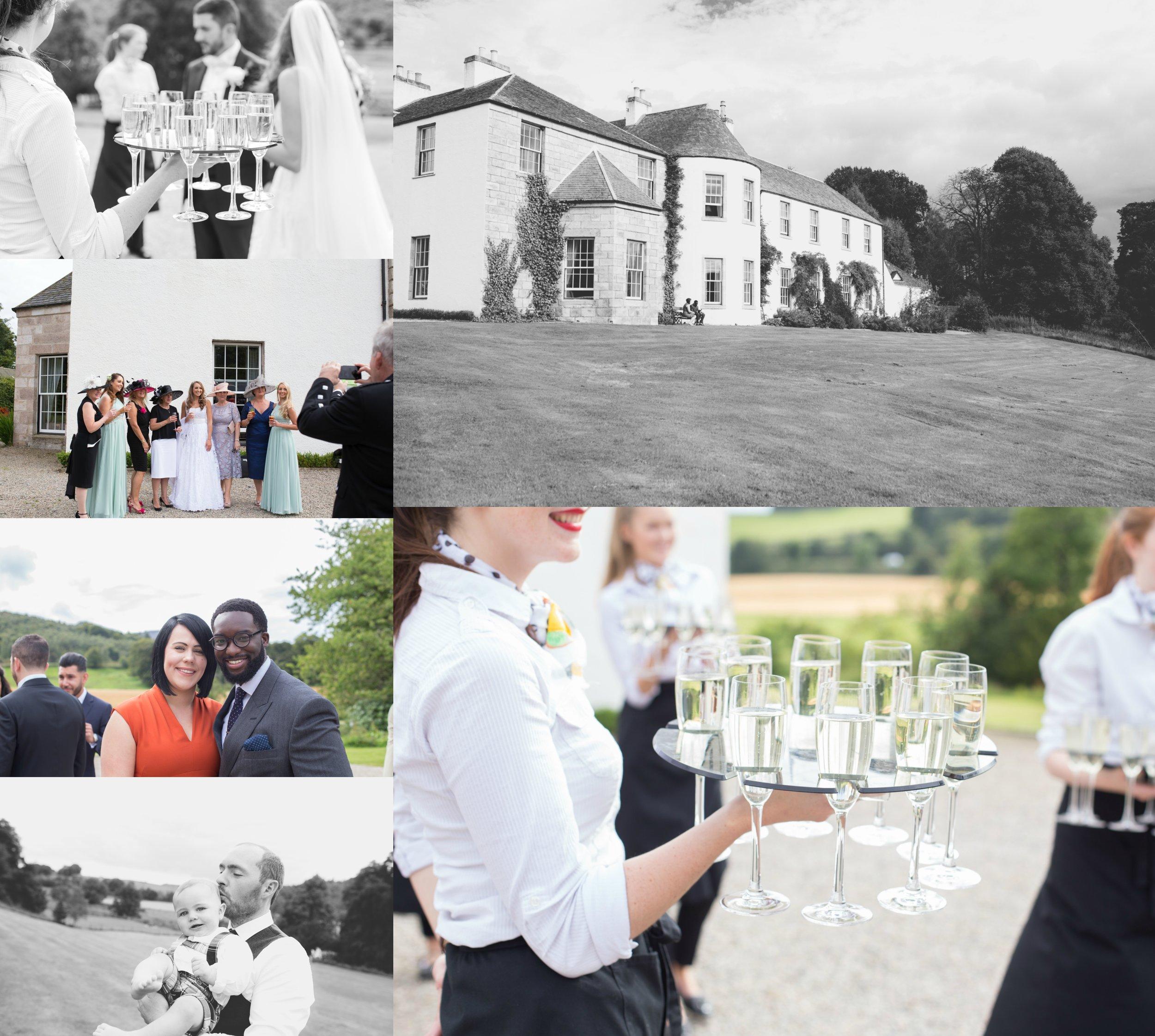 aberdeenshire wedding photographer logie country house