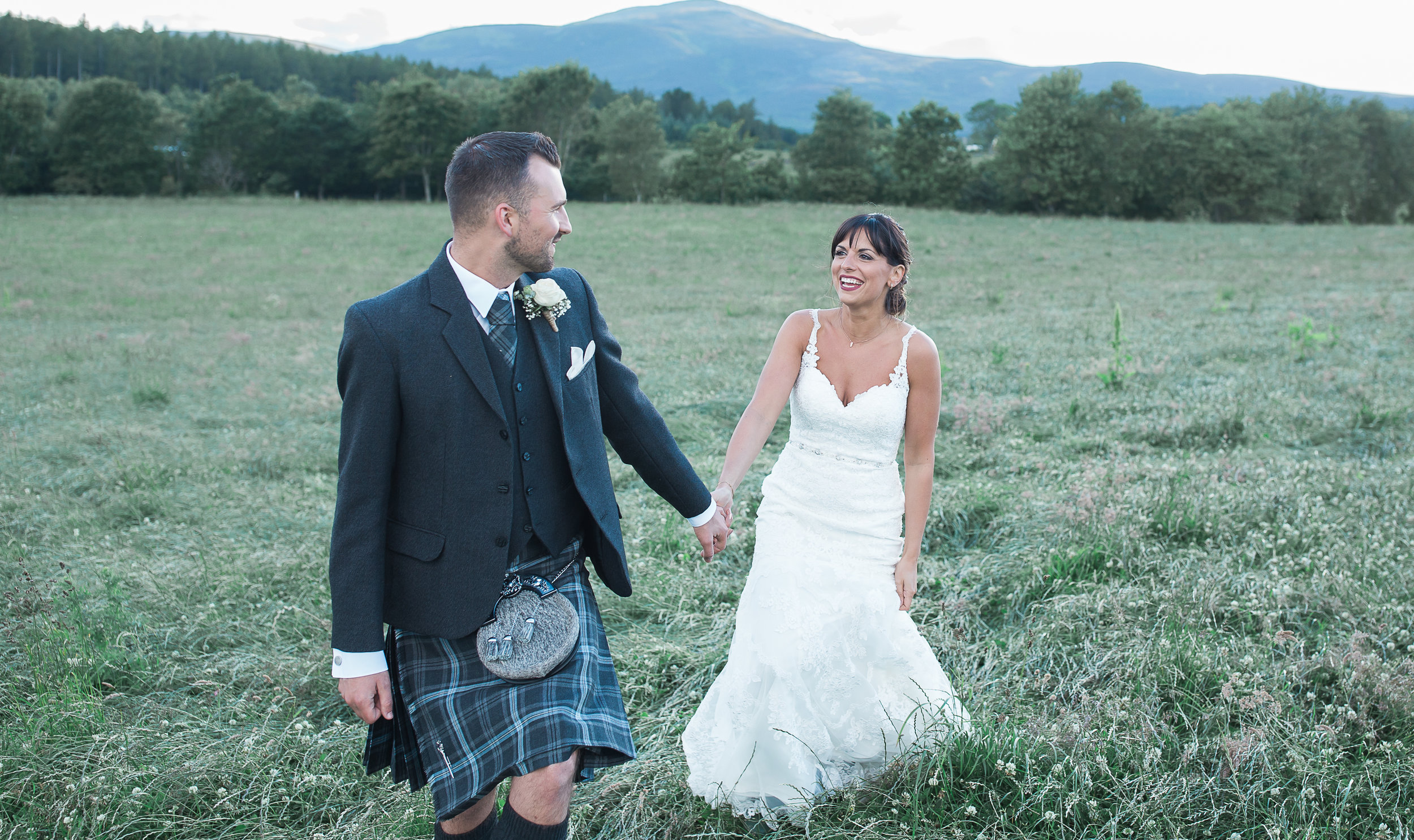 outdoor wedding in Aberdeenshire
