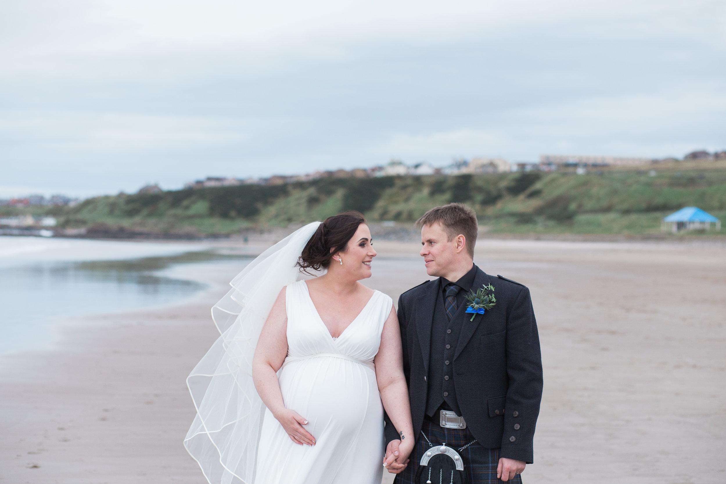 beach wedding Aberdeenshire, Banff springs hotel, Aberdeenshire wedding photography, Scottish wedding photographer, natural wedding photography aberdeen, bride and groom