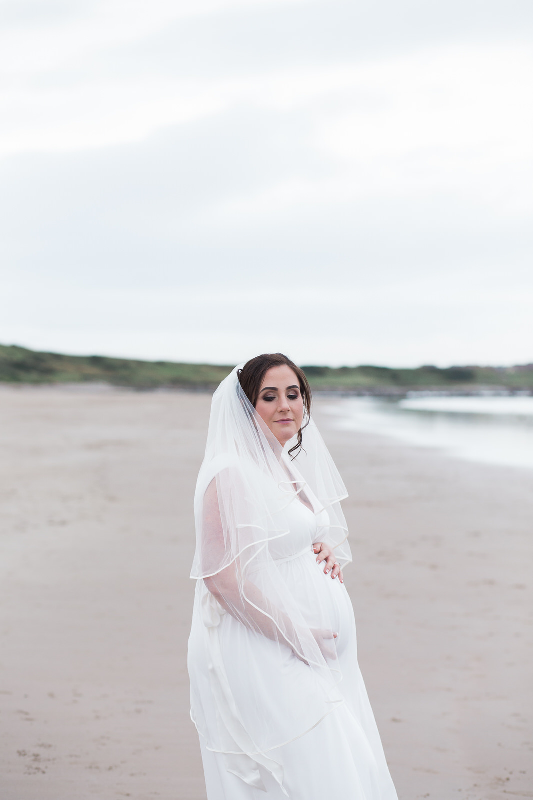 pregnant bride, beautiful bride, bride on the beach, Banff springs, wedding photographer aberdeen, Aberdeenshire wedding photography