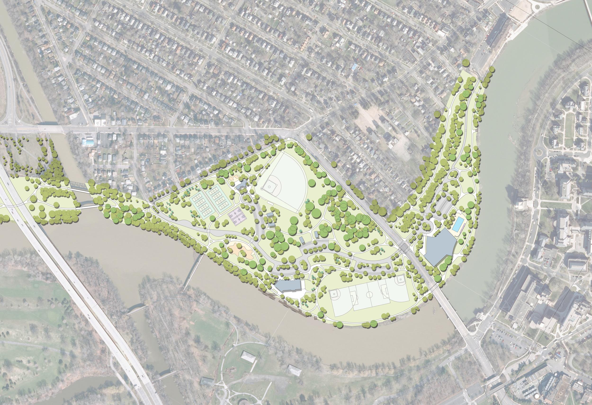 Genesee Valley Park West Master Plan   2015 NYU-ASLA Merit Award, Planning & Analysis