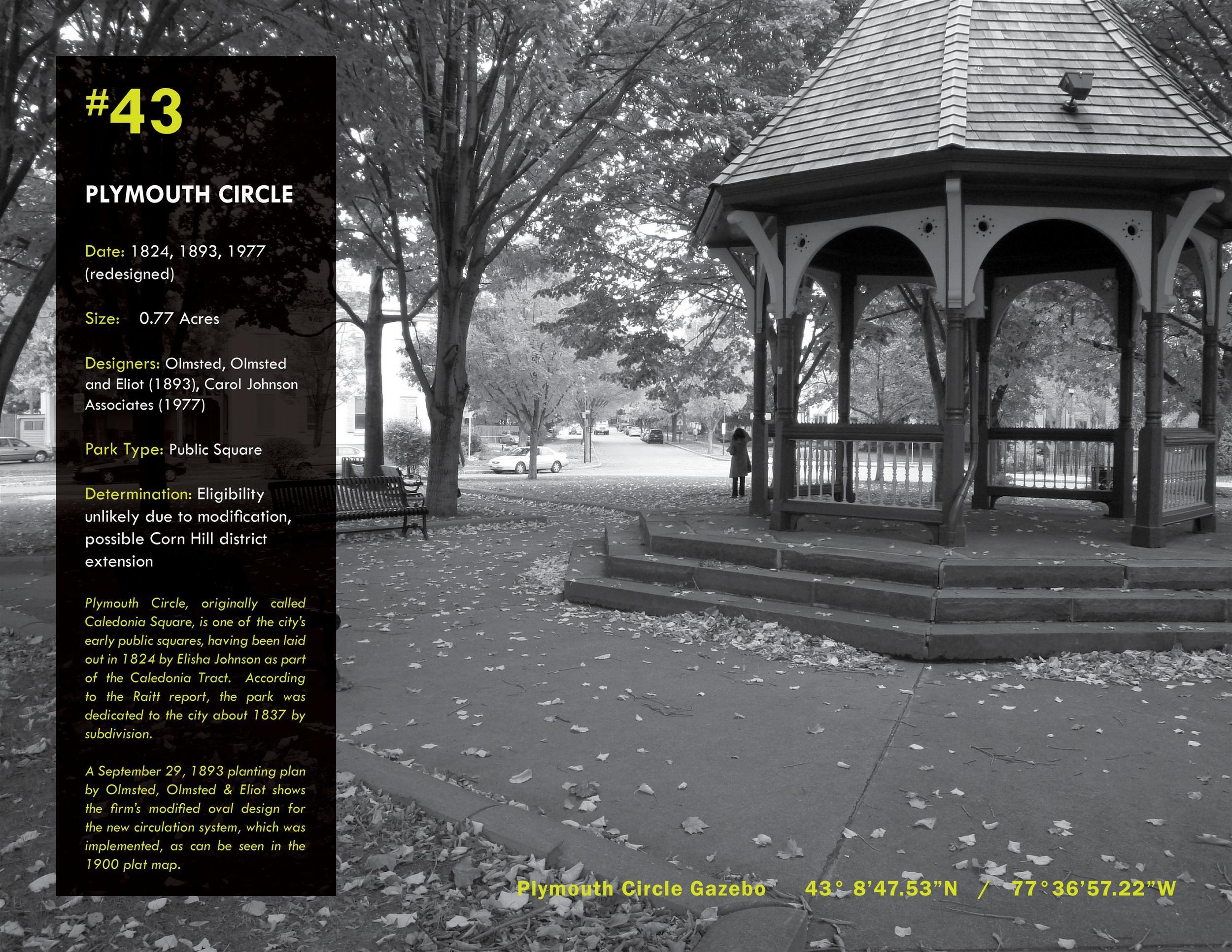 Survey of Rochester's Historic Parklands   2010 NYU-ASLA Honor Award, Historic Preservation