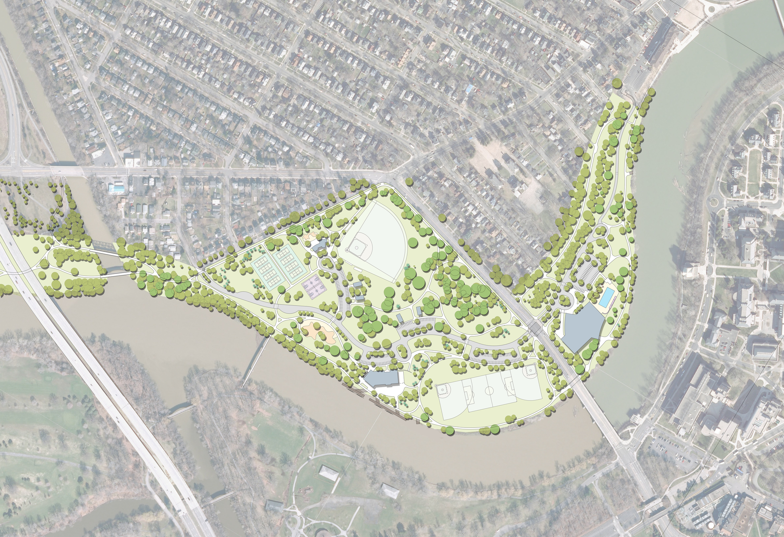 Genesee Valley Park West Master Plan   2015 NYU-ASLA Merit Award, Planning & Analysis