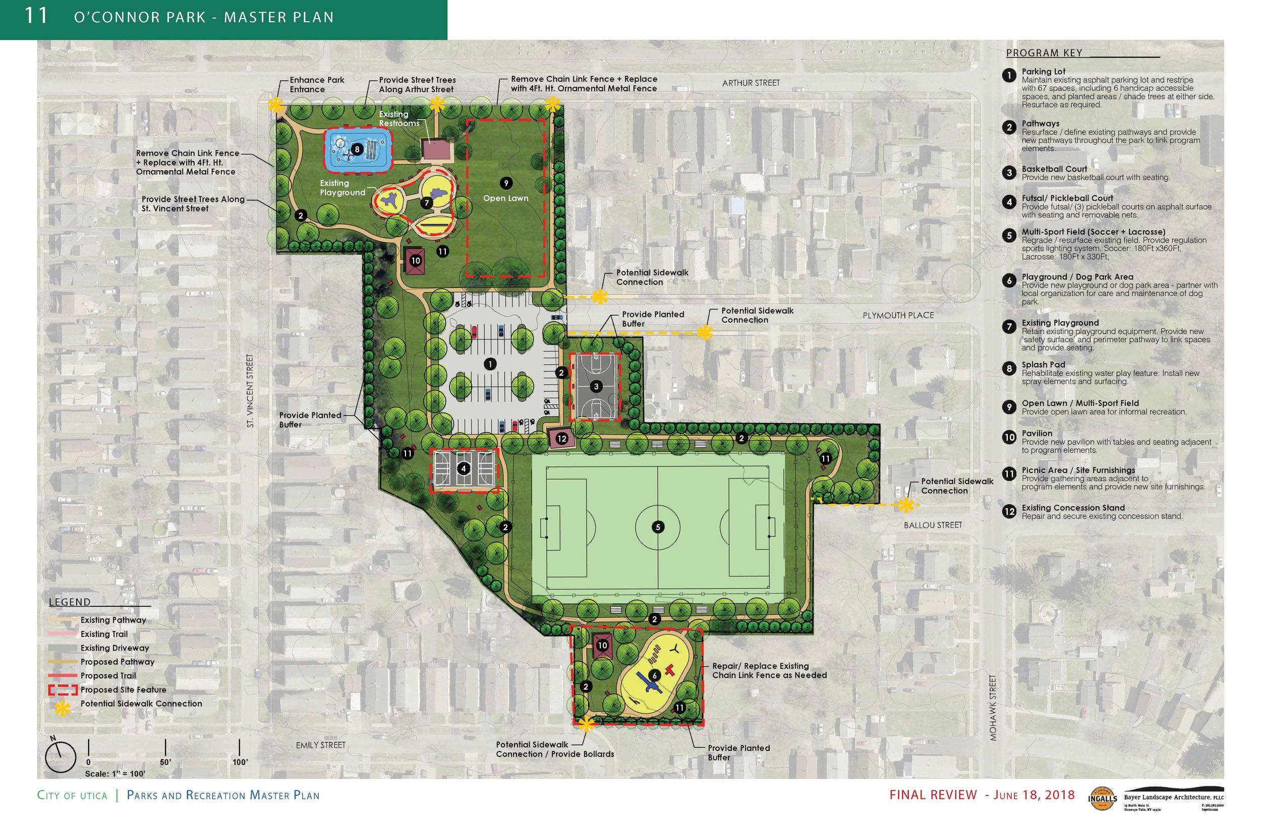 Utica Parks Masterplan Bayer Landscape Architecture Pllc
