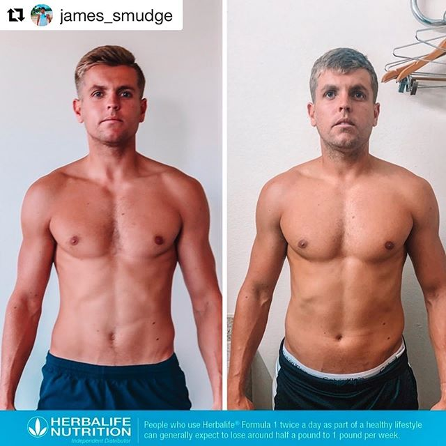 "GUYS TRYING TO GAIN! READ BELOW 👇🏼by @james_smudge - ・・・ UP 12LBS | BODY FAT REMAINS THE SAME 🙌🏼 - Alright where are all my fast metabolizers at?! When I say ""it's hard to gain weight"" you know what I'm talking about! But what you might not know, it's how to overcome it and fight against them genetics!🚨 - Left picture is January 2019 (141lbs 14% body fat. Right picture is July 2019 (153lbs 14% body fat) 💪🏼 - First things first, this takes time. And I'm not just talking about between January and July. It can take months and even years to get into the position of where you will actually gain the weight ✋🏼 - So CONSISTENCY is key. If you haven't gained a single lb in your first month of your program, that can be normal. Lads, it took months for my body to finally give in and stop burning every calorie as soon as I put into my body. Yes genetics play a KEY role, but so does your attitude and desire 🔑 - First few months start with heavy weight training so you can build up a good level of strength. That means doing 4-5 sets of 3-5 reps on compound movements; squats, bench press, overhead press, deadlift, etc. Then once you have developed good level of strength with good form, start to increase your reps to 10-15 with slow contractions keeping the muscle under tension for longer periods of time 💪🏼 - And of course, NUTRITION! You need to be eating constantly throughout the day, providing your body with protein, fats and carbohydrates. Add in some top quality supplements to help you along the way. I have used @Herbalife24 on my journey and it has been a game changer. Also makes my life easy! I don't count macros, I simply haven't got the time 🛑 - I hope this has helped you. As always, feel free to reach out with any questions! 📱 New goal of 160lbs!"