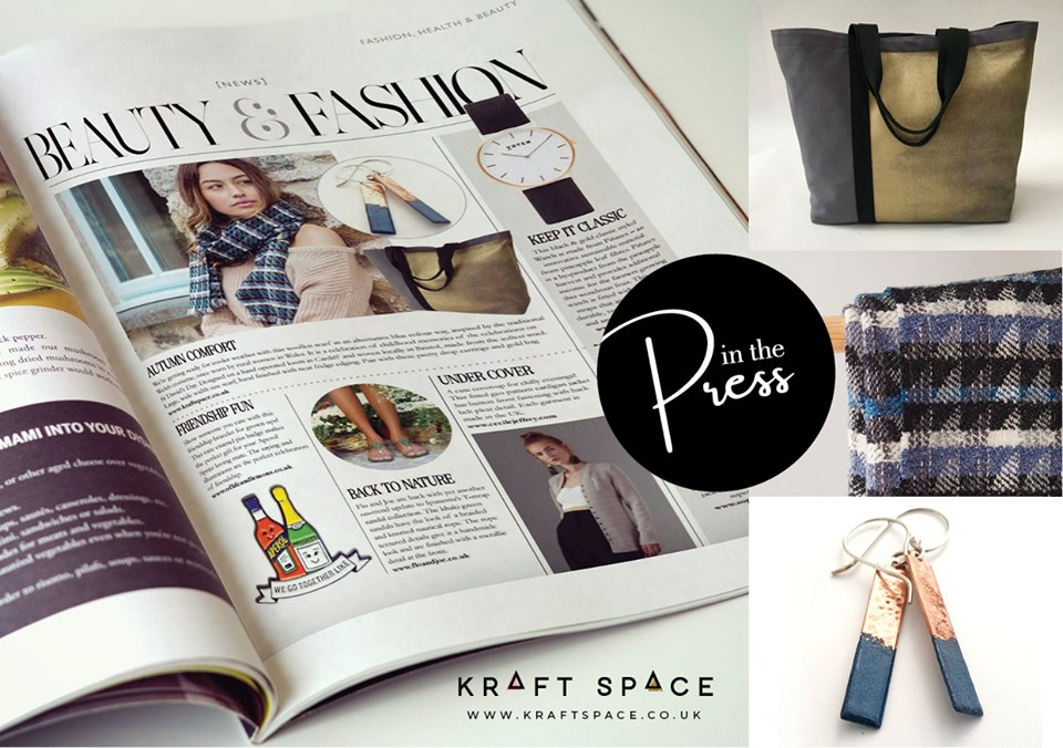 In the press… - The Woolly Mammoth Cardigan Blue Scarf makes an appearance as part of Kraft Space in the September 2019 edition of Life Magazine.