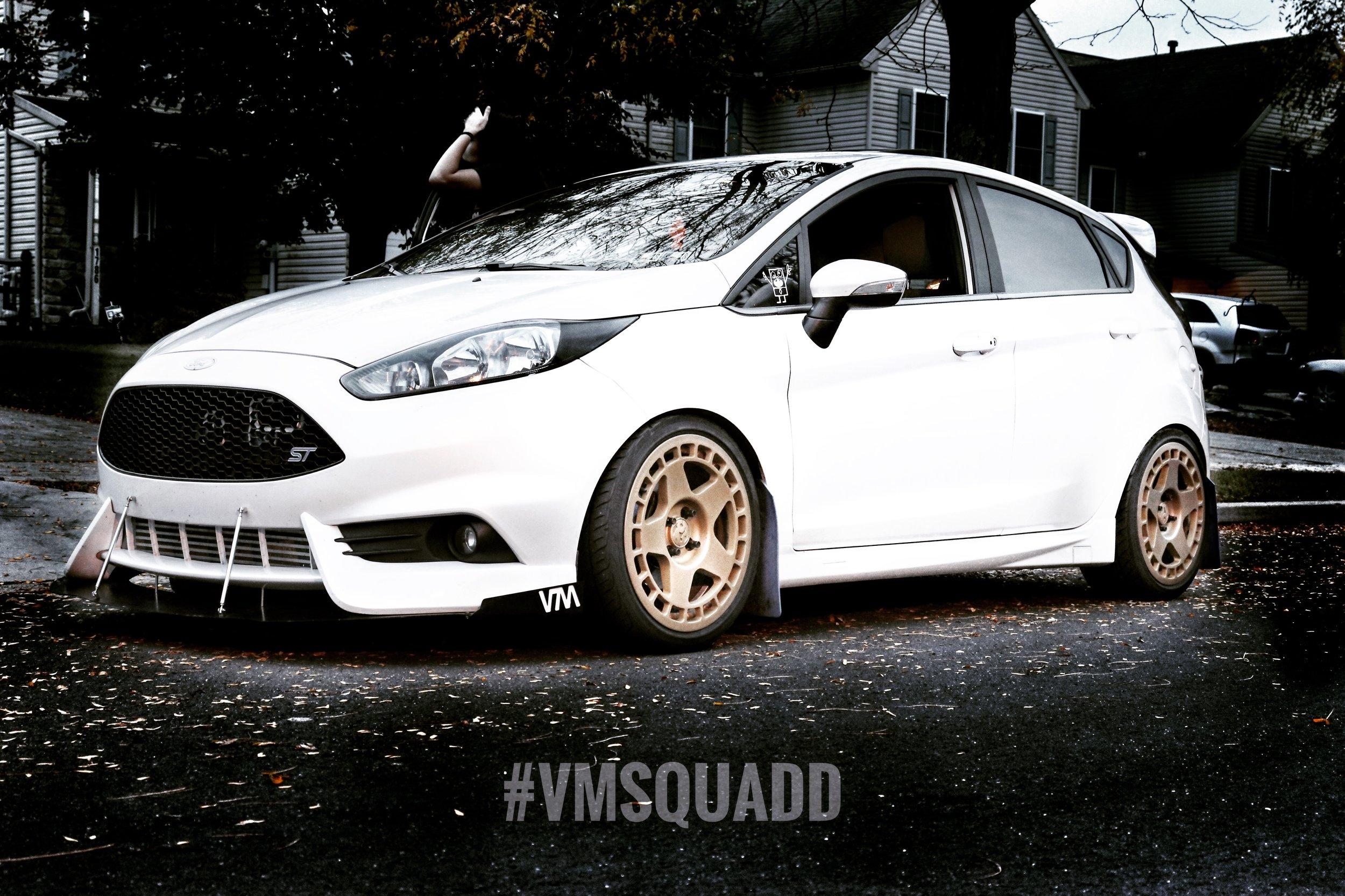 2016 Ford Fiesta ST - Owner: BradLocation: PennsylvaniaInstagram: bradward_fVega products installed:VM Aluminum Front Splitter with VM bolt-on side fins and VM cutout UNDER Fifteen52 cup spoilers, VM Sideskirts with VM finsMod List: X47 hybrid turbo, 3
