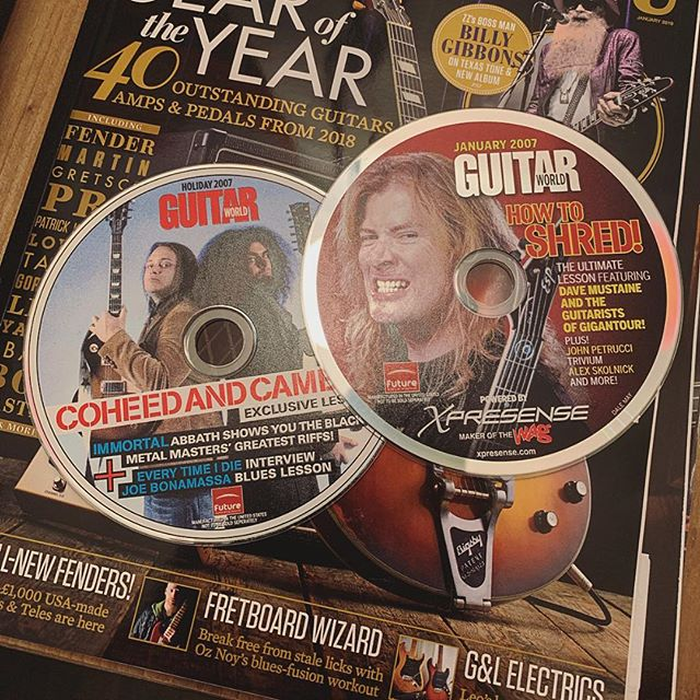 Back in my day, we had #guitarmagazines #2007 #forgetyoutube #simplertimes @guitarist_mag @guitarworldmagazine