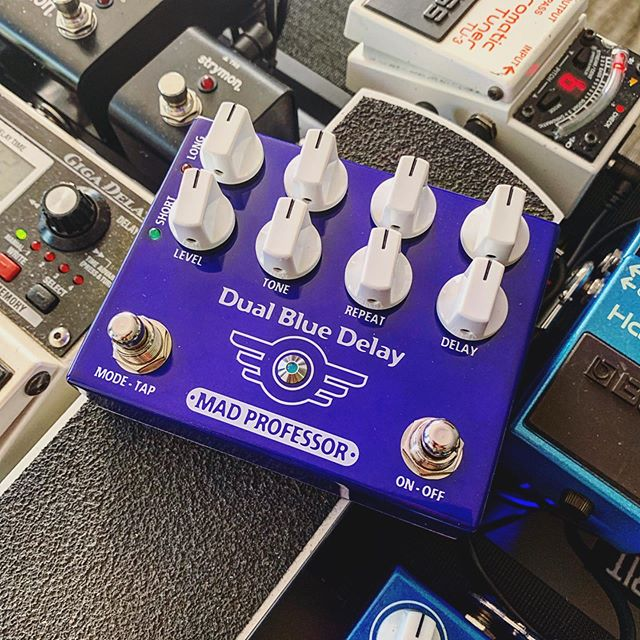 New used pedal day! Been wanting to try one of these for a while 🙏🏻 @madprofessoramp #dualbluedelay #newpedalday #npd