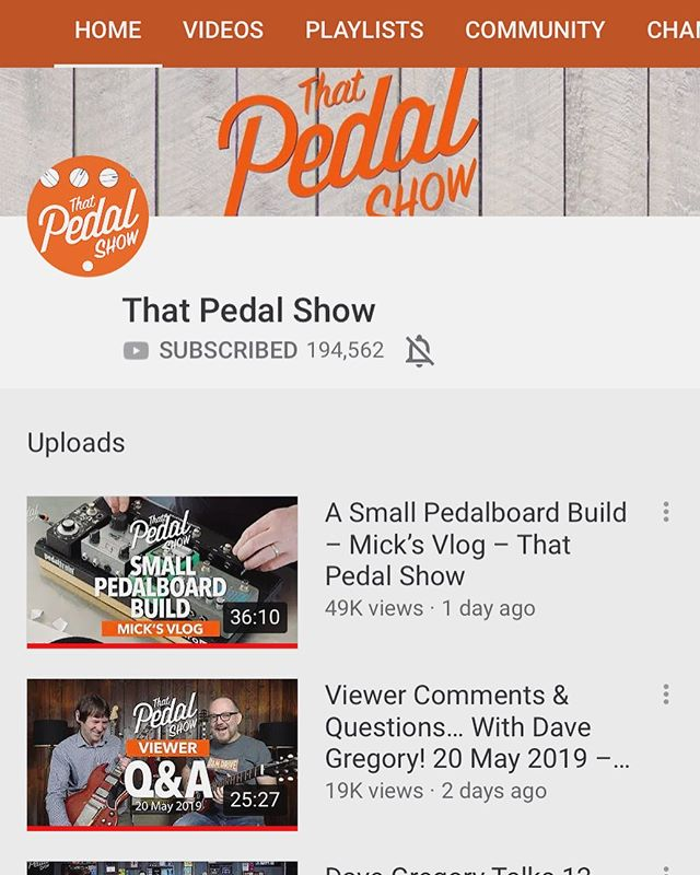 Straight binge watching @that_pedal_show 🤯 Do yourself a favor and subscribe to their YouTube channel. I can't overstate how much I've learned about gear and tone since stumbling upon this last year. Thanks Dan and Mick! You both are an inspiration. #thatpedalshow