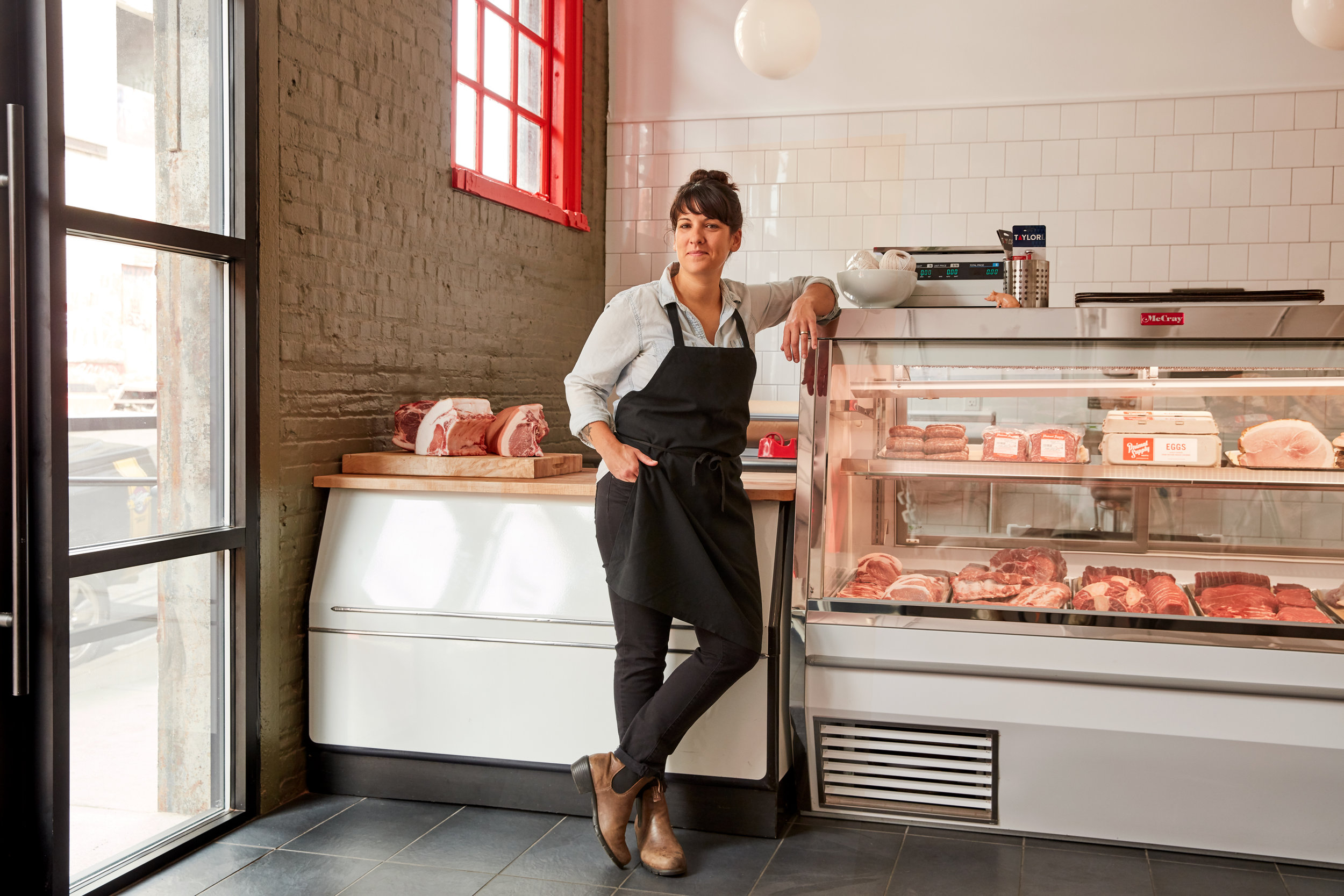 Heather Marold Thomason pictured at our Brewerytown Butchery & Market by Jason Varney