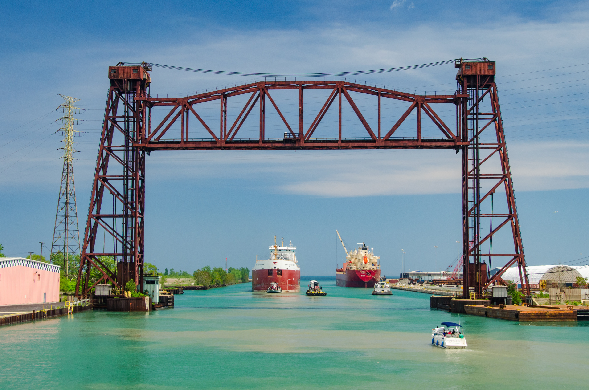 Ships at the Gateway to the Calumet River
