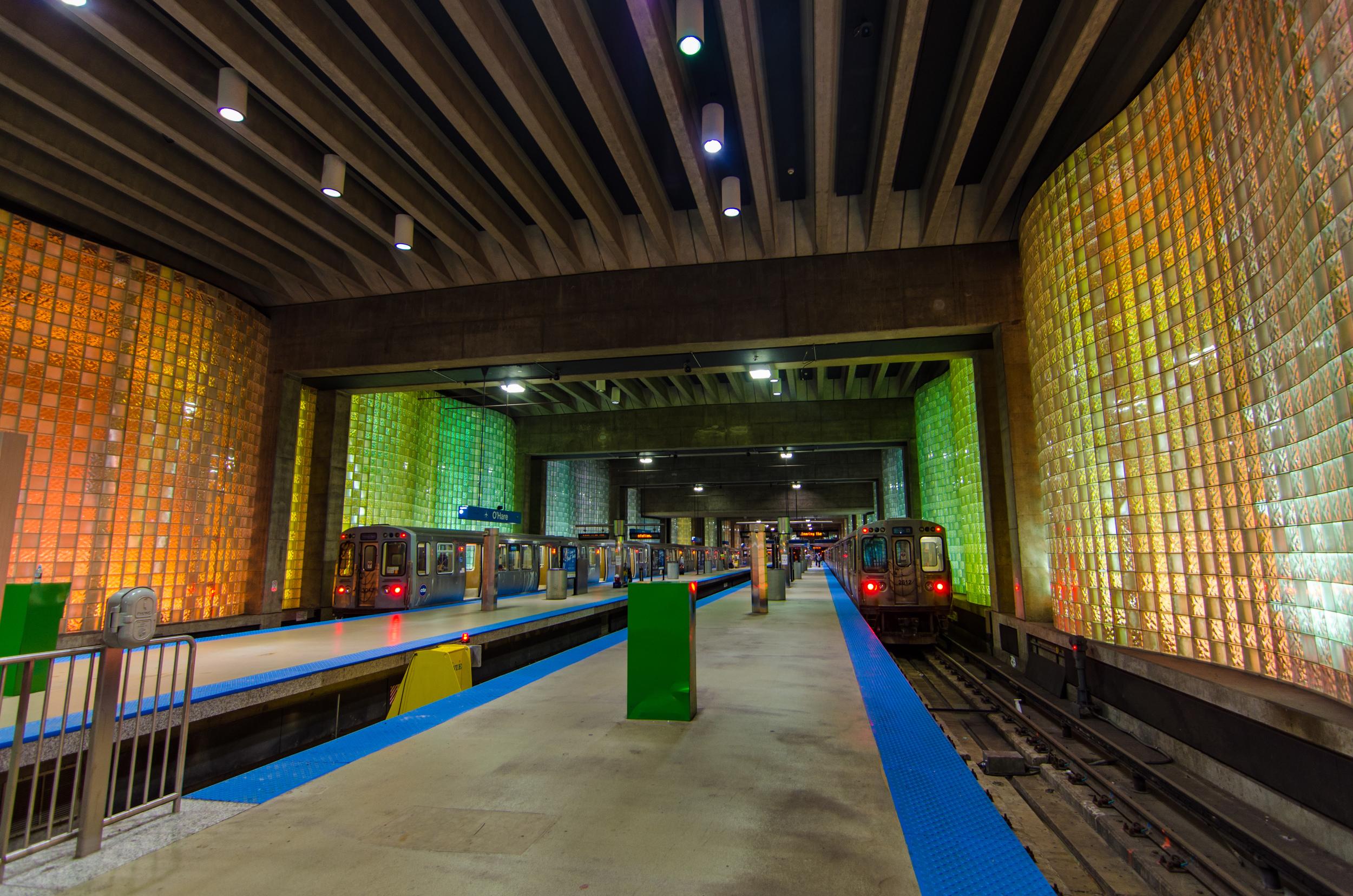Blue Line O'Hare Station