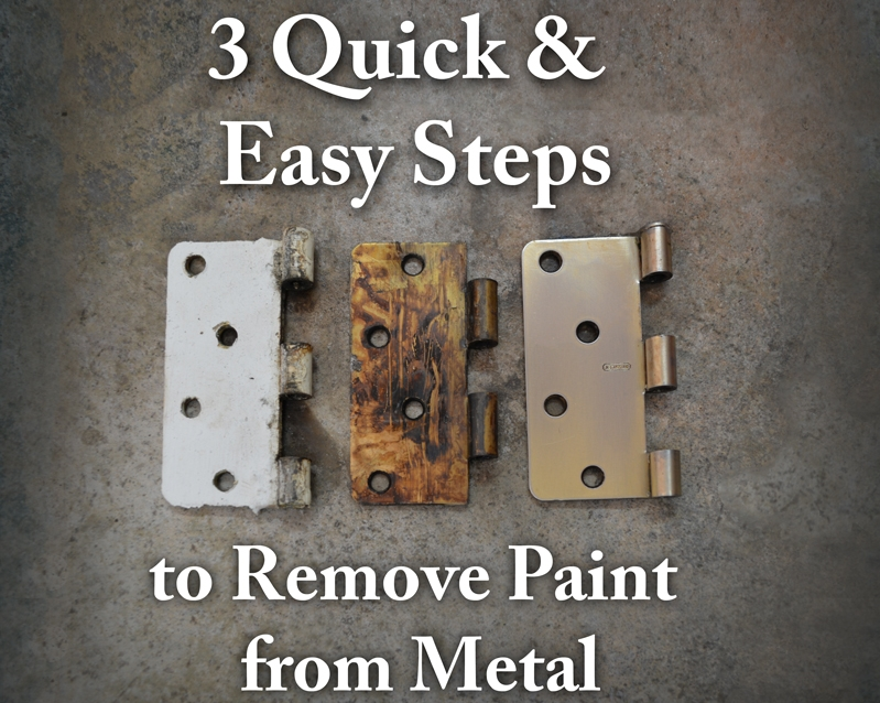 Remove Paint From Metal Hardware 3 Quick And Easy Steps Az Diy Guy