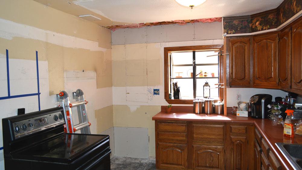 The Kitchen half gone.