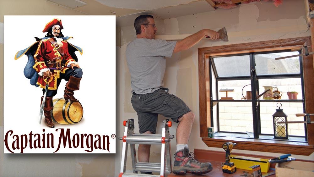 from left: Sir Henry Morgan, Sir AZ DIY Guy   Capt Morgan image property of  Diego