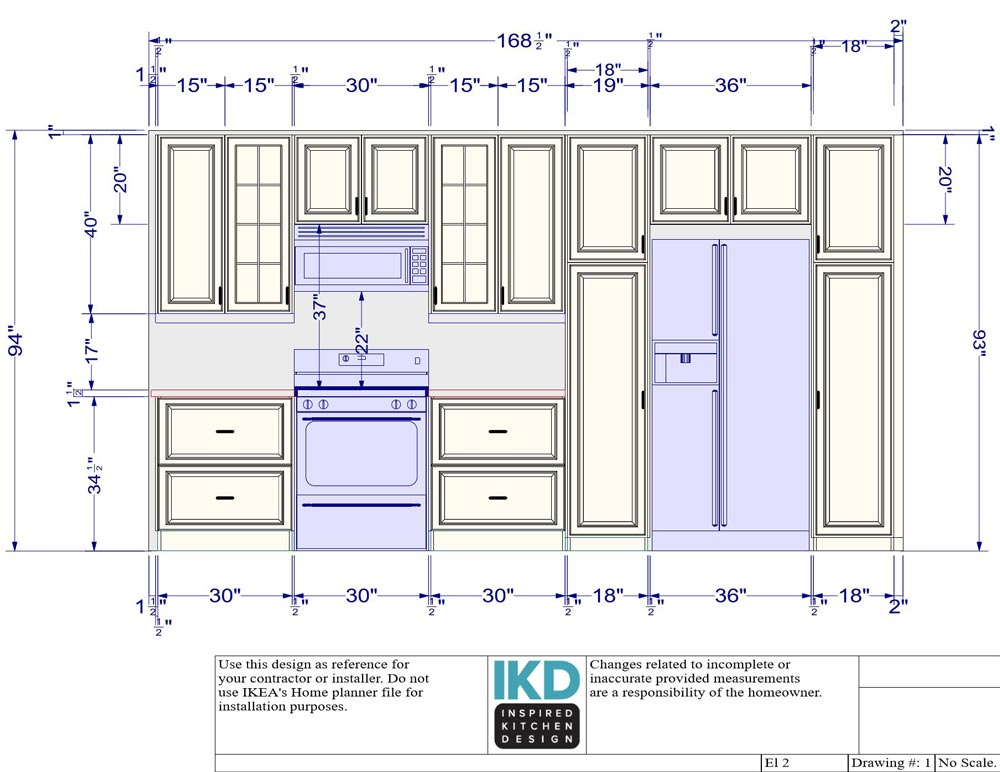 The South wall design - Phase 1 of the remodel,  by Inspired Kitchen Design