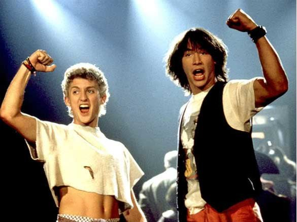 Alex Winter, Keanu Reeves,  Bill & Ted's Excellent Adventure , Orion