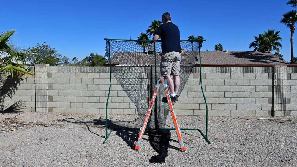 Attaching golf netting