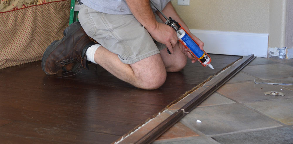 The Great Divide: Installing the Living Room Transition Molding — AZ