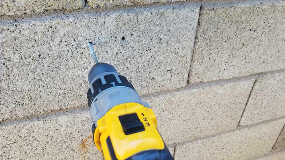 Hammer Drill Mode in action