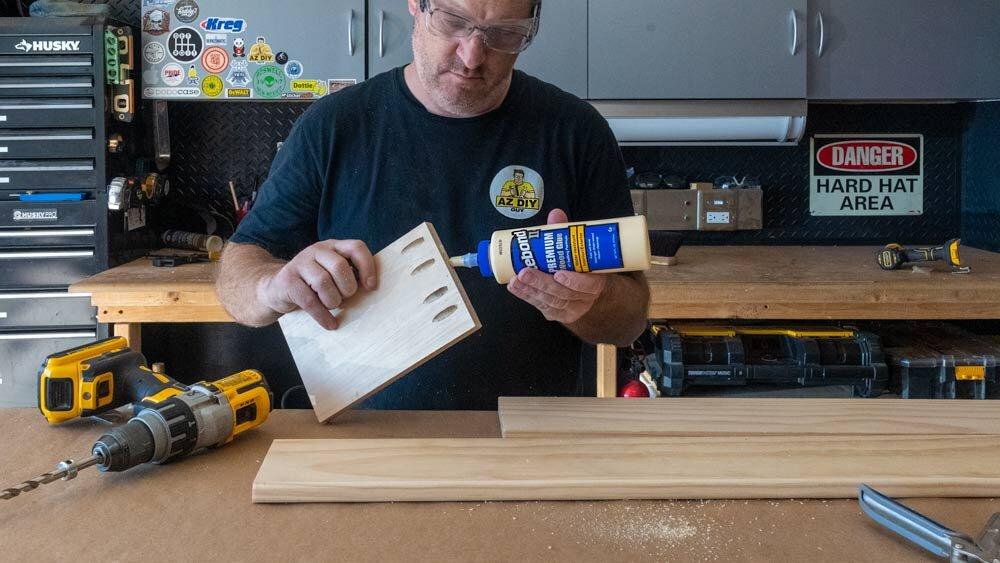 I always have  Titebond 5004 II Premium Wood Glue  in the cabinet