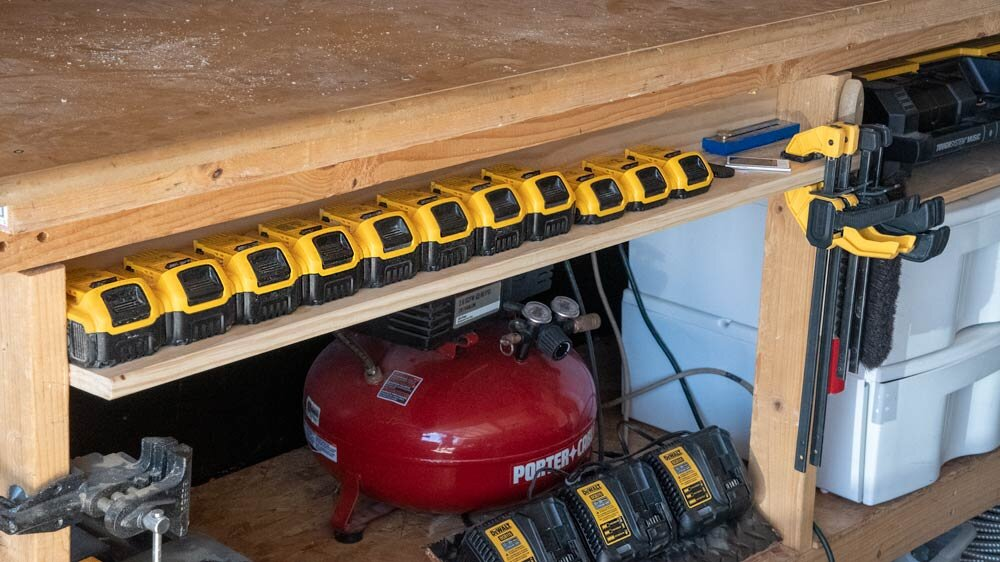 45 Amp Hours of cordless run time, all in a pretty little row!