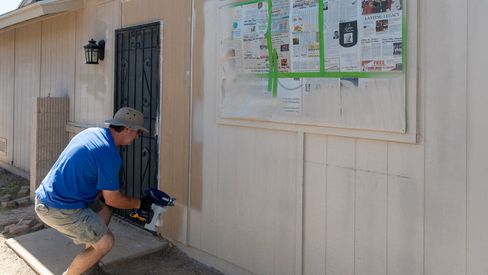 The  Graco Cordless Airless Handheld Paint Sprayer  in action