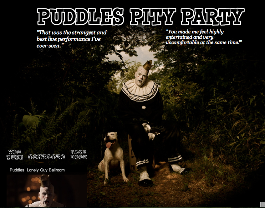 PuddlesPityParty.com screenshot