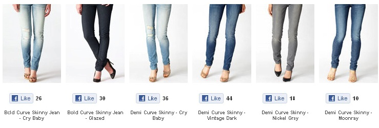 Facebook Like Button on a n ecommerce website