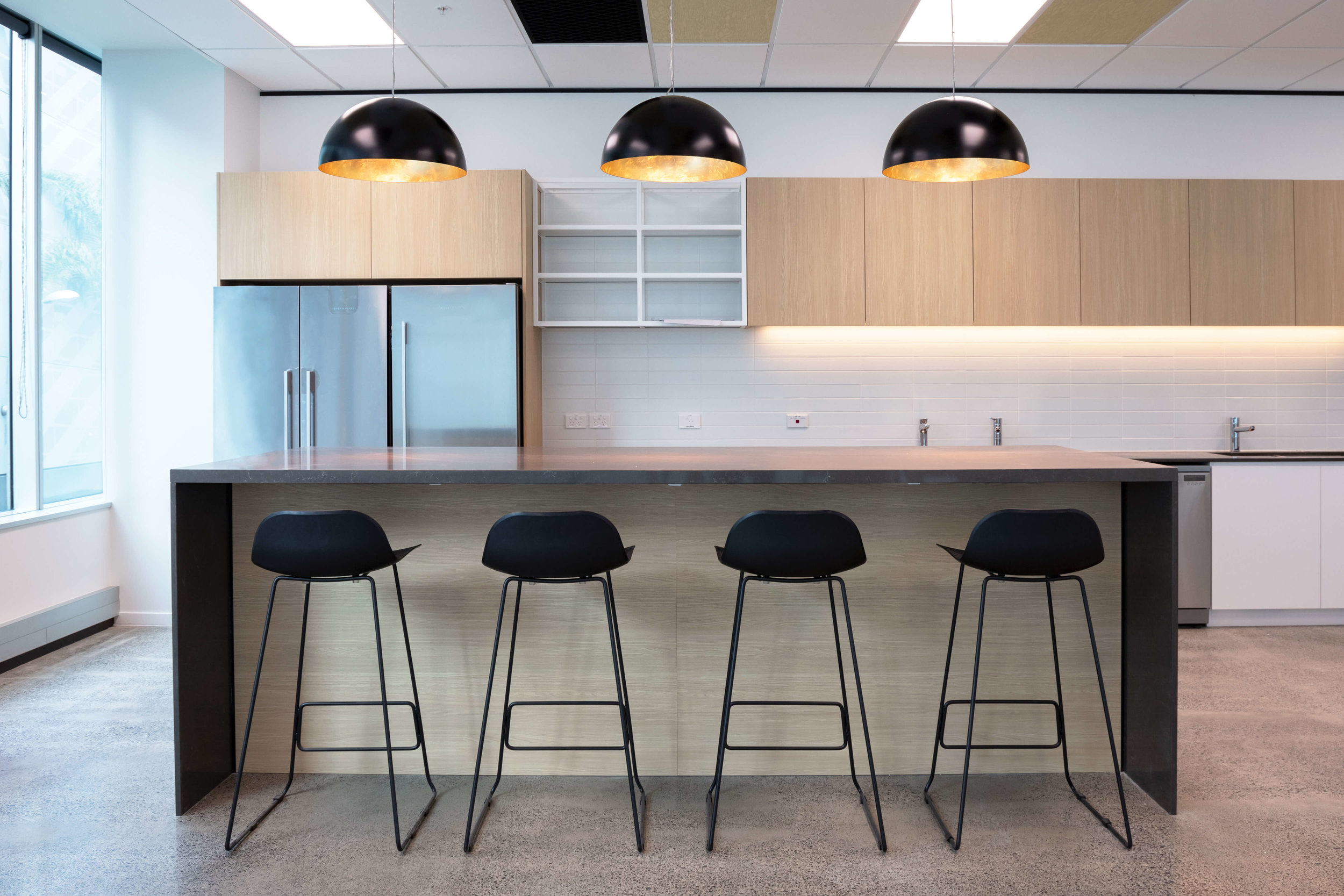 Beautiful minimalist kitchen design for Custom Fleet