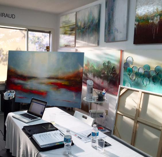 image of Donna Giraud art studio | art mentorship | coaching art business