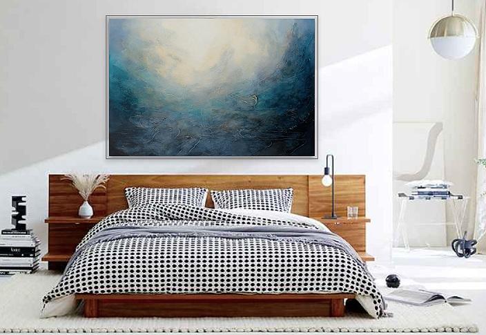 custom Donna Giraud art in bedroom