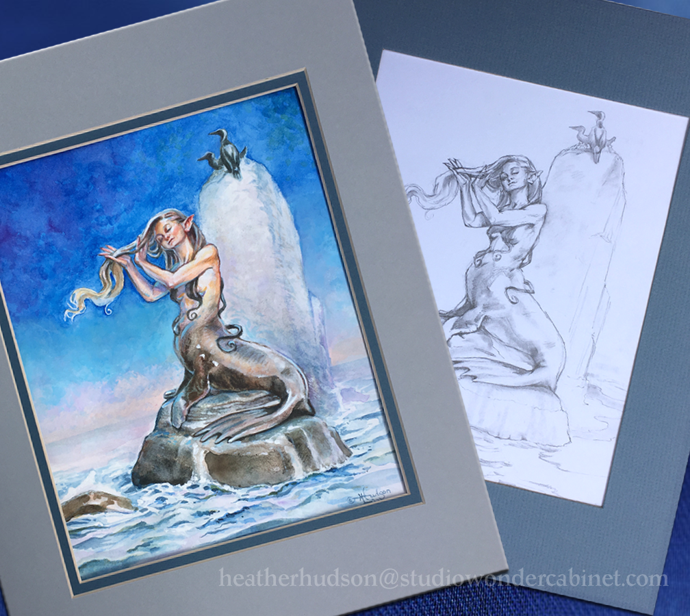 "Final art and original sketch are both available in the Changeling Artist Collective's ""Deep Blue"" auction this week.  For more information or to bid on ""Deep Blue Sky,"" visit its page here:   http://tinyurl.com/m8dxwb9      For information or to bid on the pencil preliminary, ""Deep Blue Sketch,"" visit it here:   http://tinyurl.com/k5mhzb2"