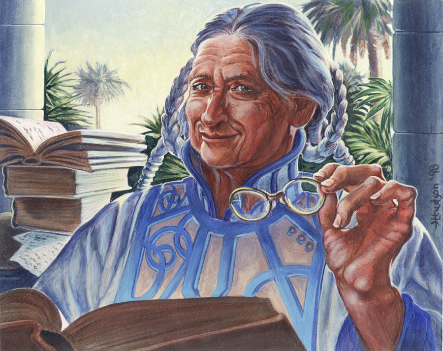 Academy Rector - art by Heather Hudson.  Artwork © 1998-2018, Wizards of the Coast/Hasbro Inc.