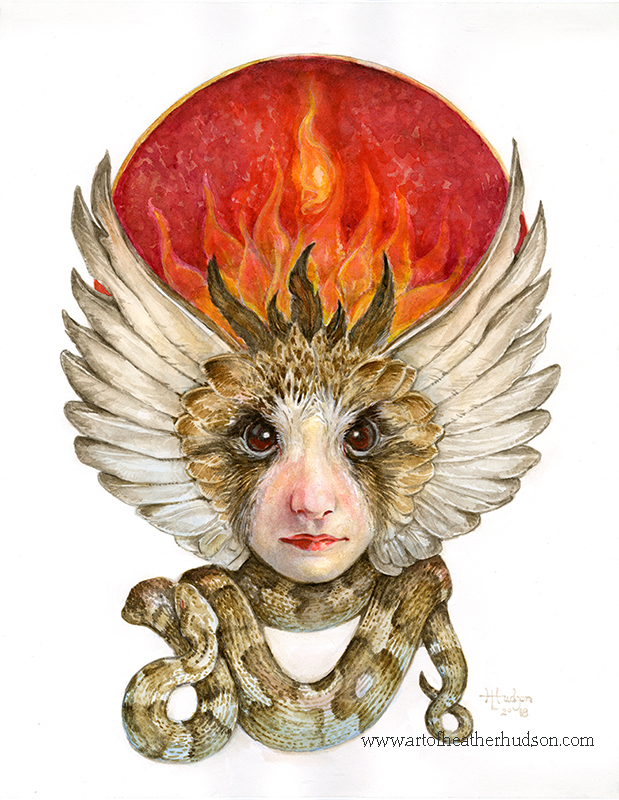 """""""Red Lilit,"""" one of my spring works, will be a part of the Goddesses Creating Goddesses show at Gargoyles this June."""