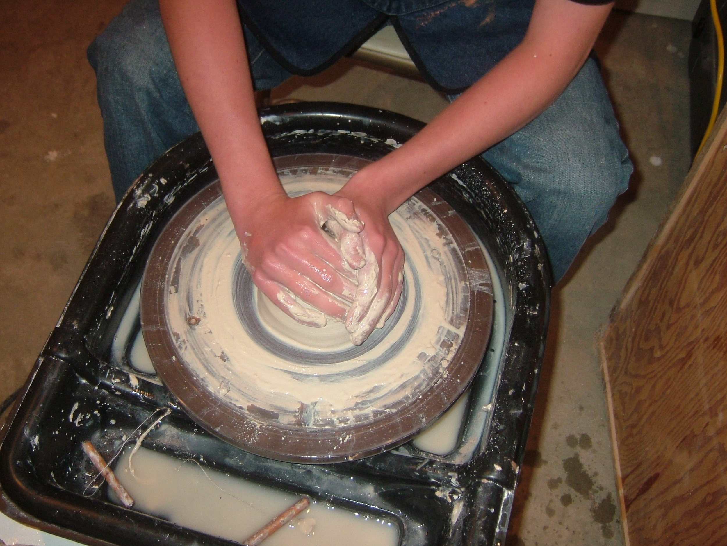 Get your hands dirty on the potter's wheel!