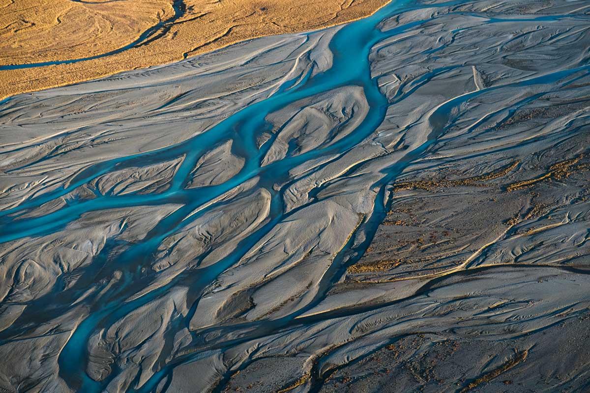 Godley River Braids, Lake Tekapo