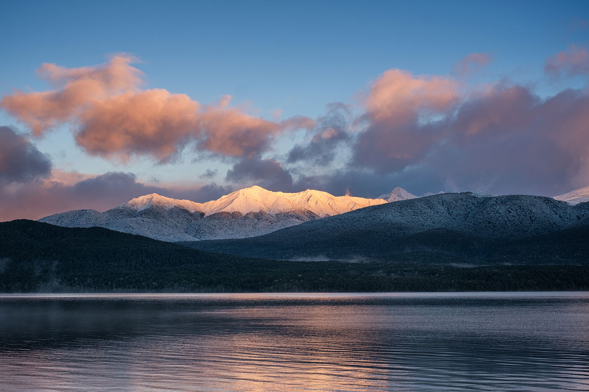 First light on Mount Luxmore, Fiordland