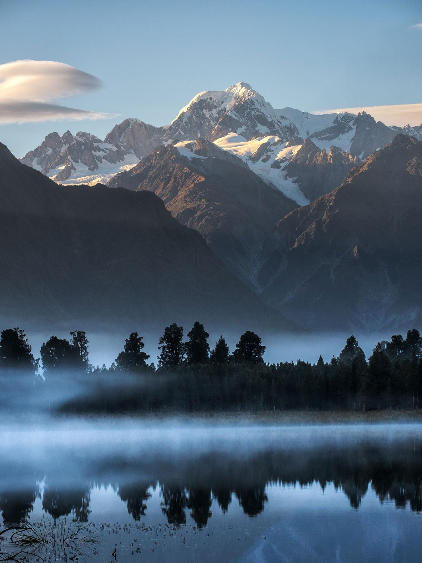 Portrait of Mount Tasman