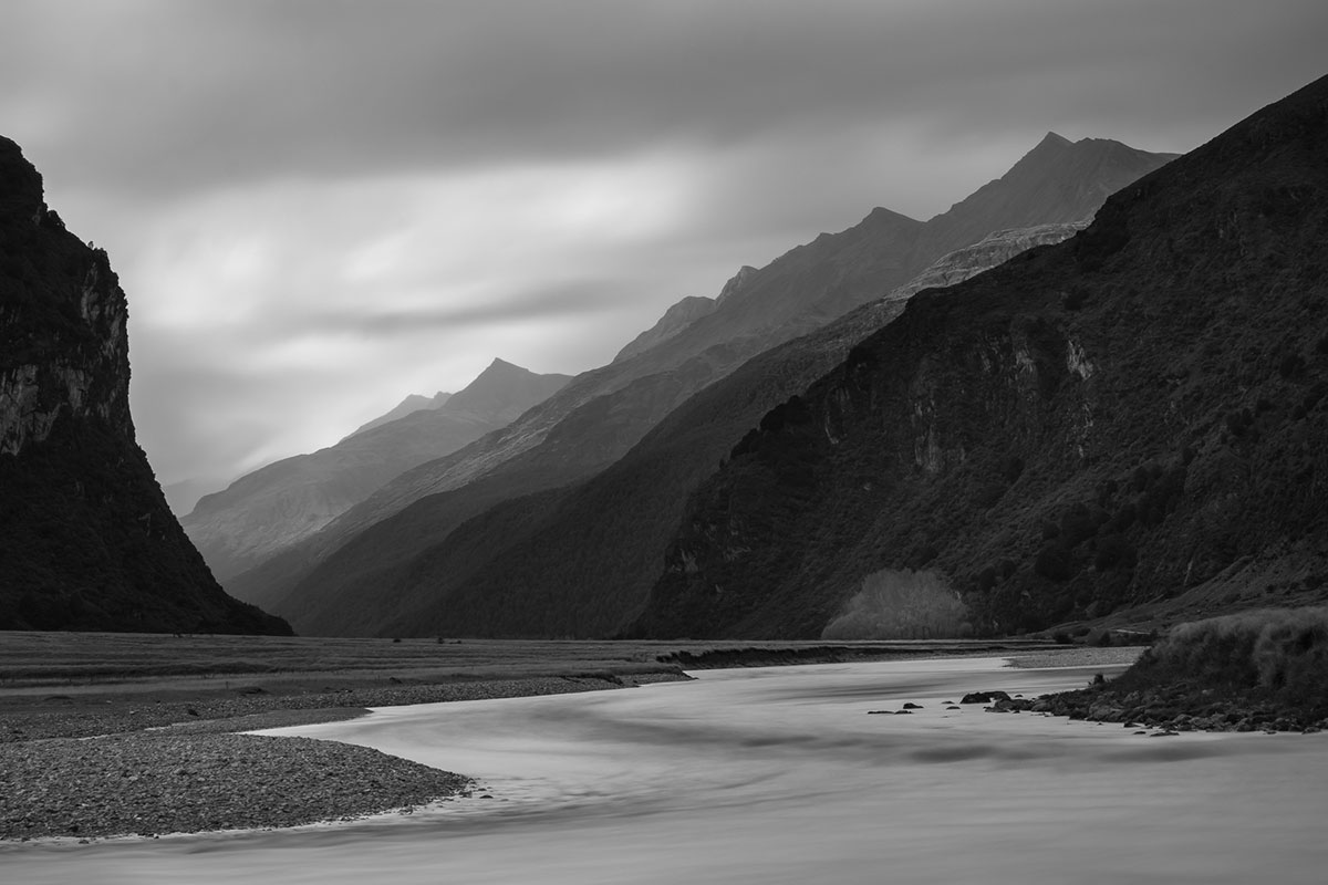 Matukituki Valley, Otago (Monochrome)