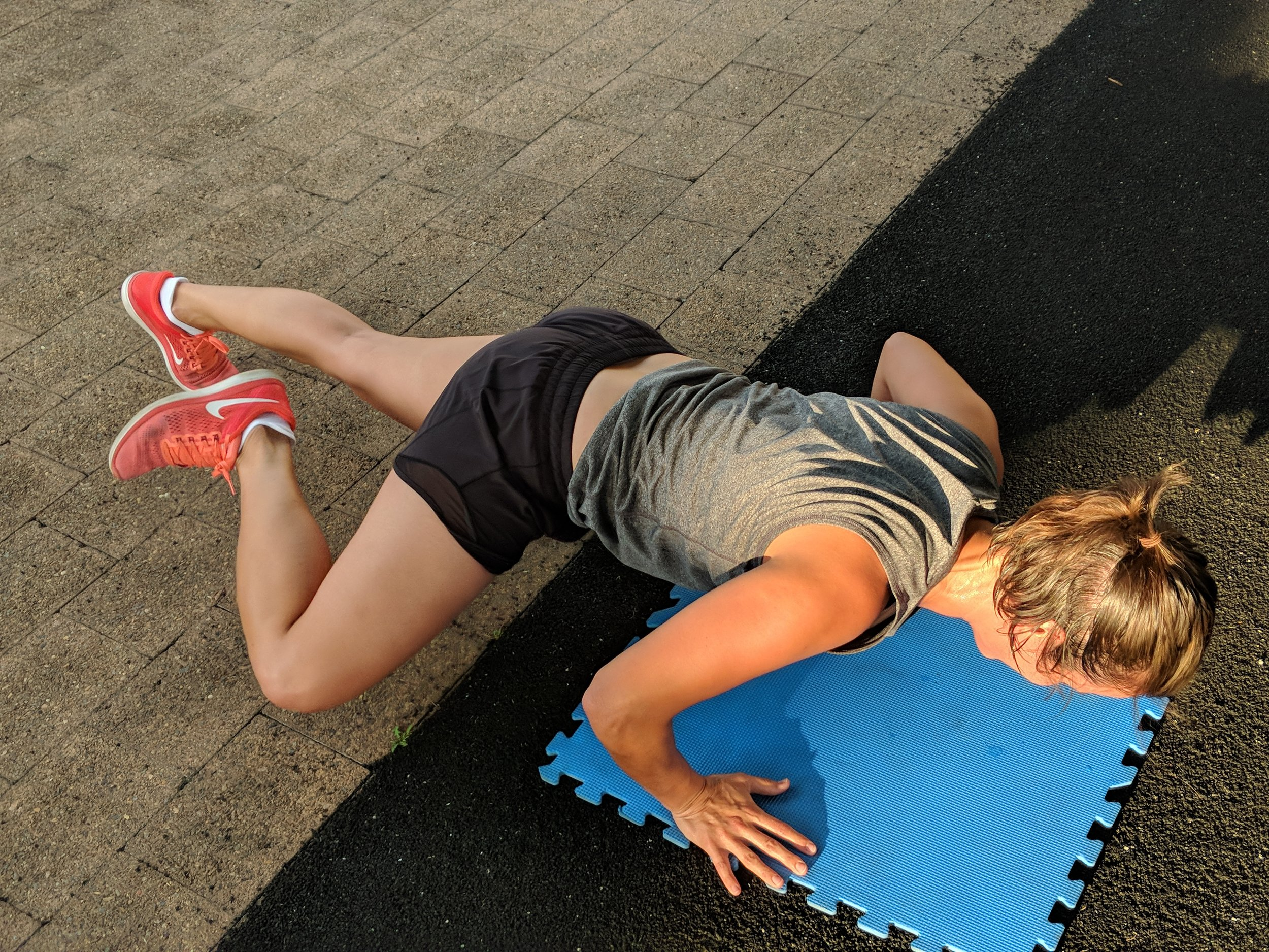 The Spiderman Push-Up is a great variation!