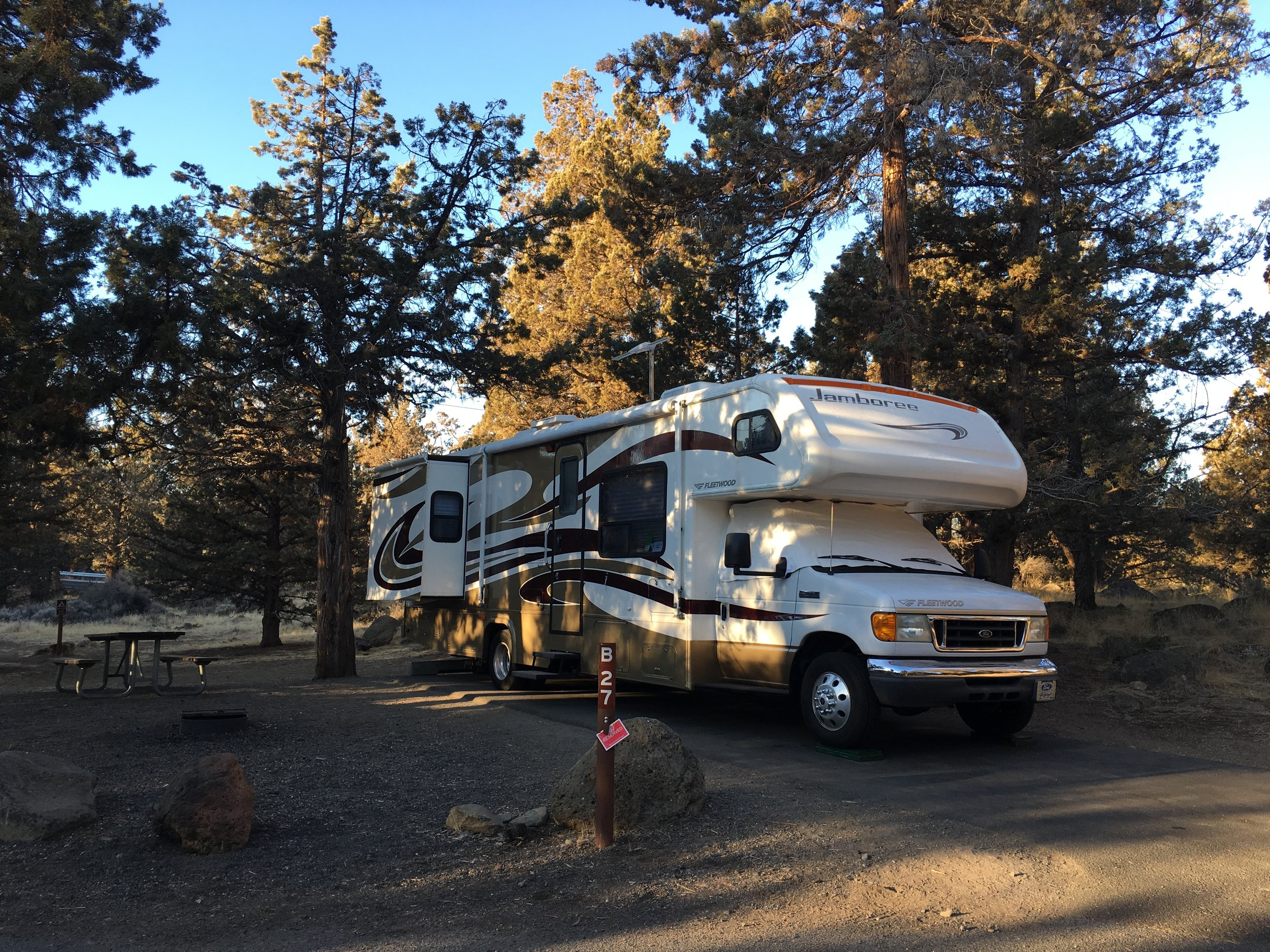A few beautiful days in Bend! Our motorhome camping trip to Bend, Oregon