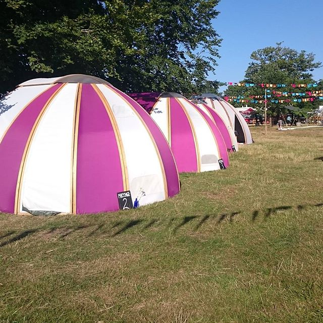 Beautiful treatment pods glowing in the sunshine..#wilderness2015 #wildwellbeing #massage #relax