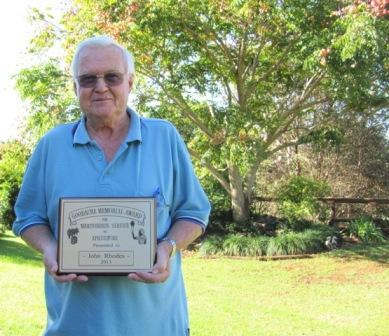 Dr John Rhodes Awarded Goodacre Award