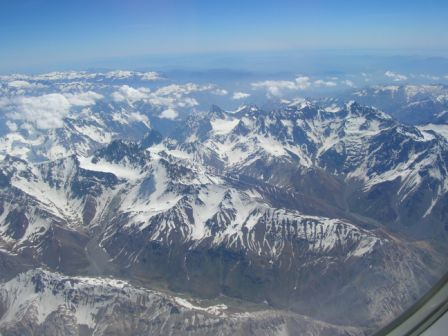 Chilean Andes from the air