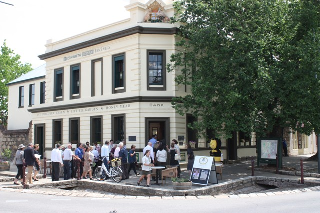 Guests assembling for the Grand Opening of Beechworth Honey Discovery on 5th December