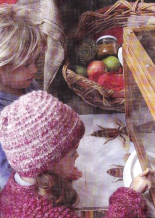 A glimpse into the fascinating world of Honeybees – two very interested youngsters at the 'SA National Honey Month' display Photo Courtesy Martin Gilbert